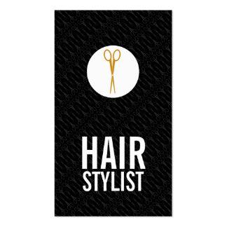 El oro Scissors el punto blanco - estilista Tarjetas De Visita