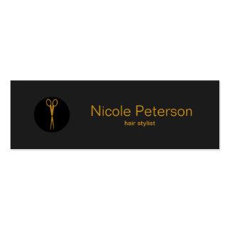 El oro Scissors el punto negro - estilista Tarjetas De Visita Mini