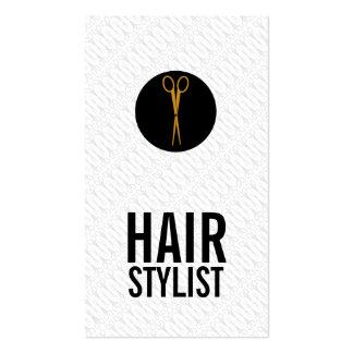 El oro Scissors el punto negro - estilista Tarjetas De Visita