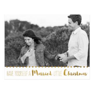 El oro, se casa y el navidad brillante ahorra la tarjetas postales
