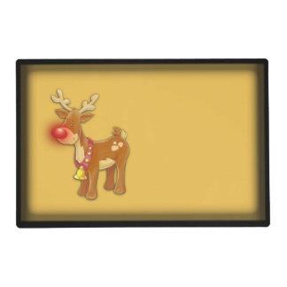 el oro sospechado rojo del reno salvamanteles