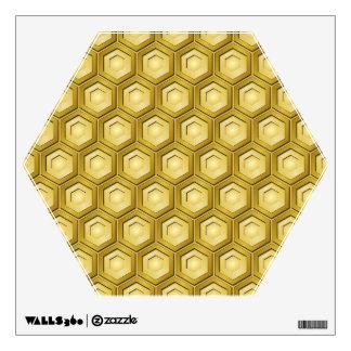 El oro tejó la etiqueta de la pared del maleficio