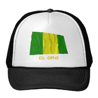 El Oro waving flag with Name Mesh Hats
