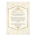 El oro y el boda elegante formal clásico del cordó invitacion personal