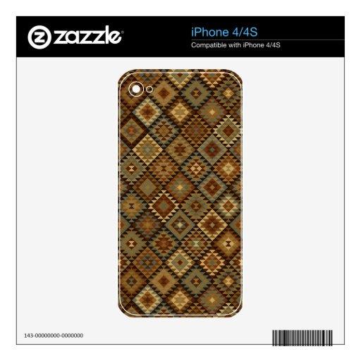 El oro y el bronce aztecas inspiraron el modelo calcomanías para el iPhone 4