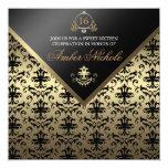 El oro y el dulce negro 16 del damasco invitan anuncios personalizados