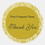 El oro y el negocio blanco le agradecen los etiqueta redonda