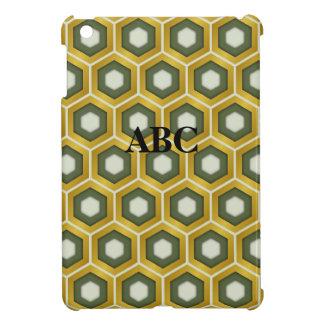 El oro y el verde verde oliva tejaron la mini cubi iPad mini cárcasa