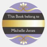 El oro y la púrpura este libro pertenece a los etiquetas redondas