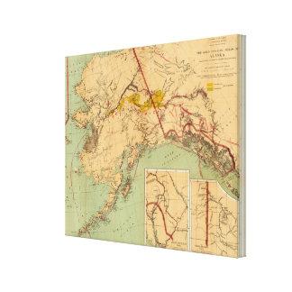 El oro y las cuencas carboníferas de Alaska Lienzo Envuelto Para Galerías