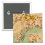 El oro y las cuencas carboníferas de Alaska Pin Cuadrada 5 Cm