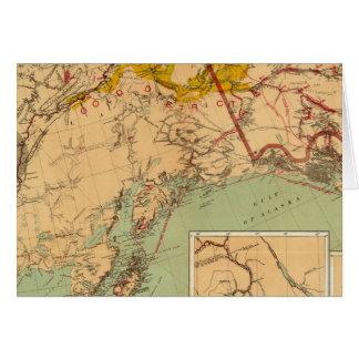 El oro y las cuencas carboníferas de Alaska Tarjeta