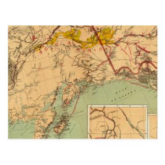 El oro y las cuencas carboníferas de Alaska Tarjetas Postales