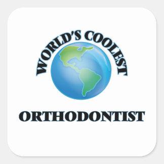 El Orthodontist más fresco del mundo Pegatina Cuadrada