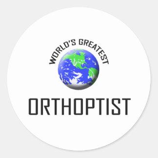 El Orthoptist más grande del mundo Pegatina Redonda