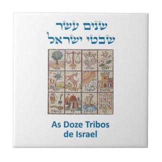 El OS Brasões das dormita Tribos de Israel Azulejo Cuadrado Pequeño