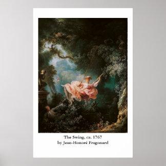 El oscilación de Jean-Honoré Fragonard Poster