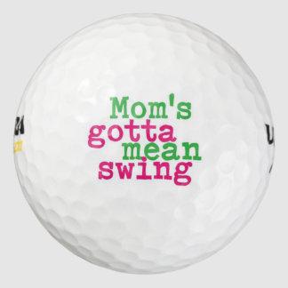 El oscilación de la mamá pack de pelotas de golf