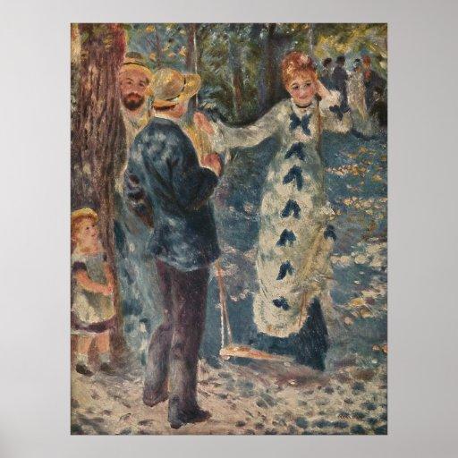 El oscilación de Pierre-Auguste Renoir (1876) Poster