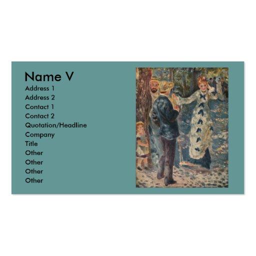 El oscilación de Pierre-Auguste Renoir (1876) Plantilla De Tarjeta Personal