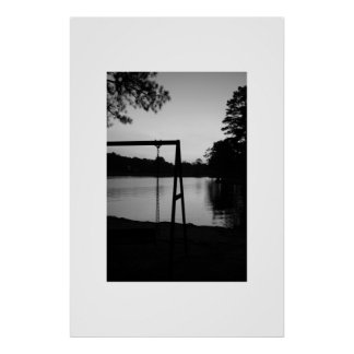 El oscilación y el lago 2 póster