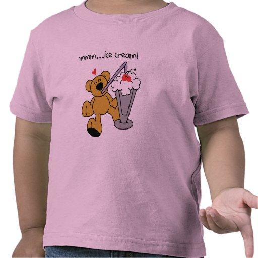El oso ama las camisetas y los regalos del helado