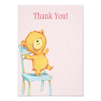 """El oso amarillo le agradece invitación 5"""" x 7"""""""