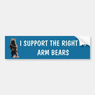 El oso arma al oso grizzly etiqueta de parachoque