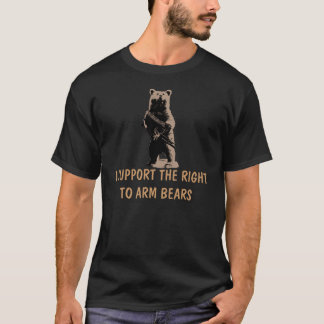 El oso arma al oso grizzly playera