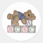 El oso bloquea a los pegatinas pegatina redonda