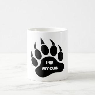El oso/Cub asalta el corazón de I mi Cub en la Taza De Café
