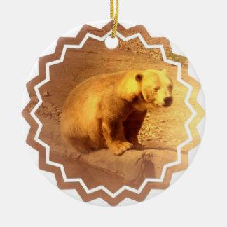 El oso Cub de Brown adorna Adorno De Navidad