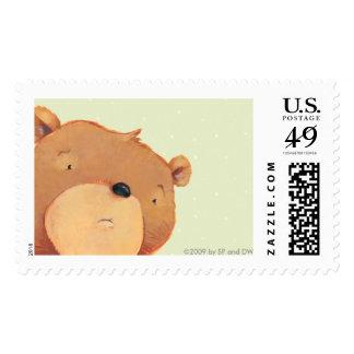 El oso de Brown grande hace una cara triste Sellos