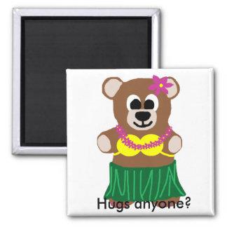 ¿El oso de Hula, abraza cualquier persona? imán