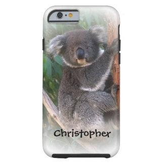 El oso de koala apenas añade nombre funda de iPhone 6 tough