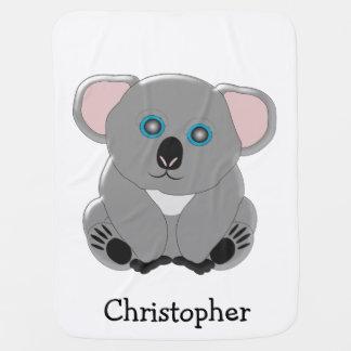 El oso de koala apenas añade nombre mantas de bebé