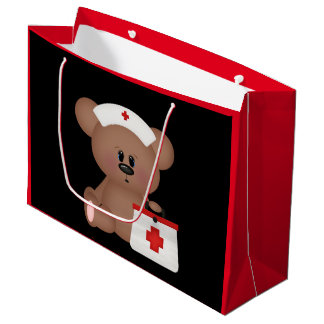 El oso de la enfermera añade el bolso grande del bolsa de regalo grande