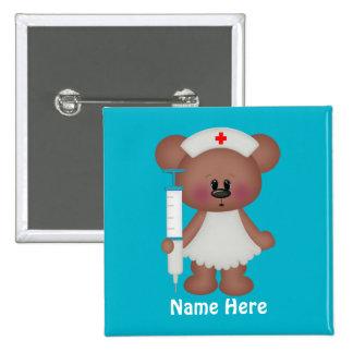 El oso de la enfermera añade el botón conocido pins