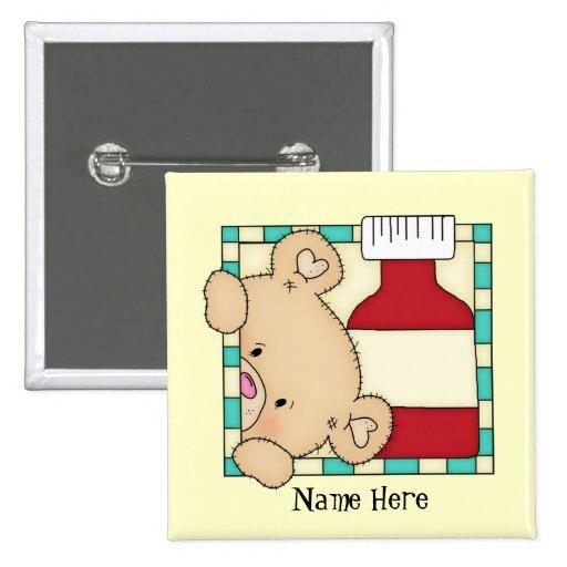 El oso de la enfermera del dibujo animado añade el pin