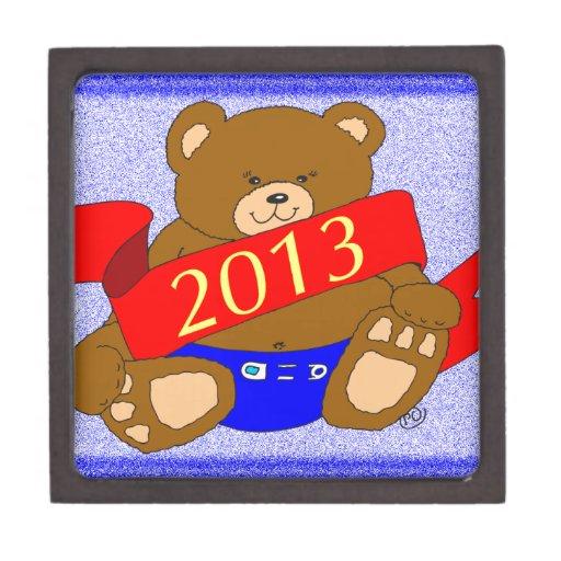 El oso de la Feliz Año Nuevo - 2013 Caja De Joyas De Calidad