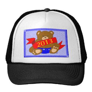 El oso de la Feliz Año Nuevo - 2013 Gorro De Camionero