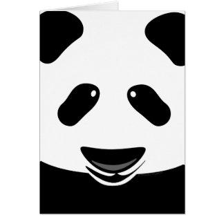 El oso de panda moderno le agradece de encargo tarjetas
