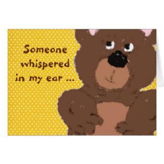 El oso de peluche de Childs consigue bien Felicitación
