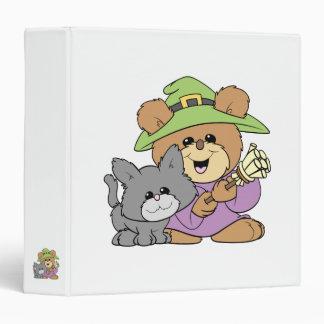 """el oso de peluche de la bruja de Halloween y del g Carpeta 1 1/2"""""""