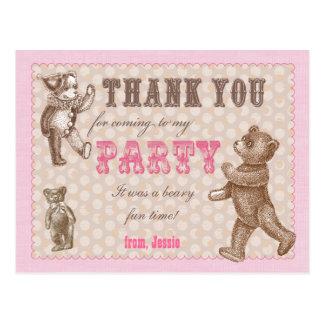 El oso de peluche del estilo del vintage le tarjeta postal