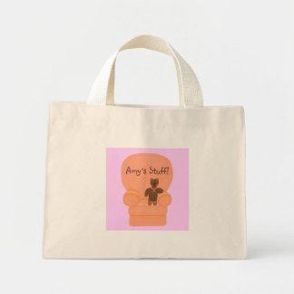 El oso de peluche en la silla, materia de Amys, lo Bolsa Tela Pequeña