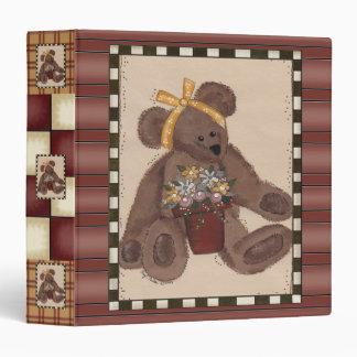 El oso de peluche florece la carpeta de Avery
