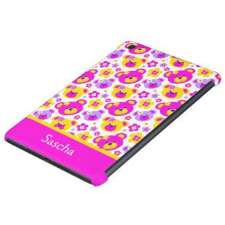 El oso de peluche florece la mini caja del ipad funda de iPad mini