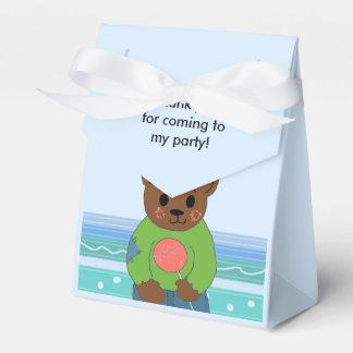El oso de peluche le agradece caja para regalos de fiestas