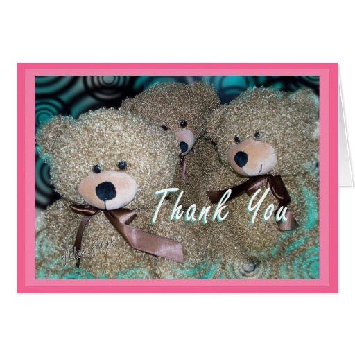 El oso de peluche le agradece modificar cualquier tarjeta